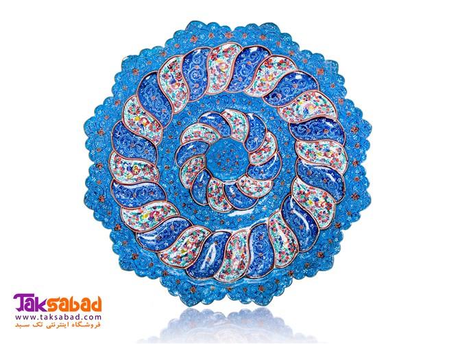 بشقاب مینا کاری شده اصفهان