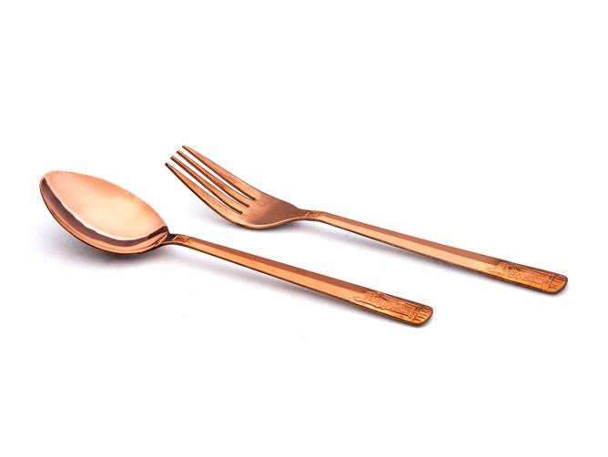 قاشق چنگال مسی