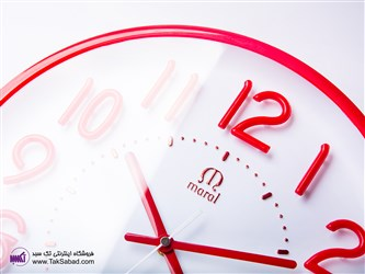 ساعت دیواری قرمز