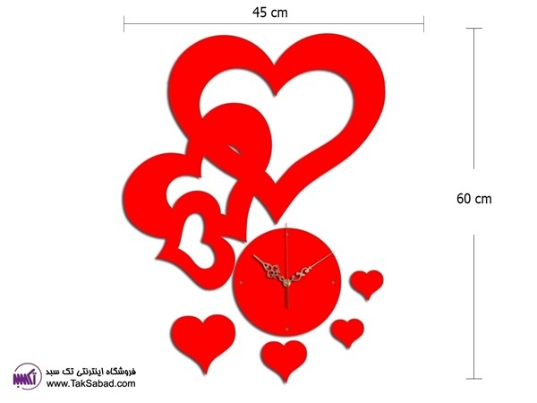 ساعت فانتزی طرح سه قلب
