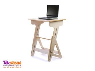 میز لپتاپ چوبی