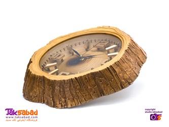 ساعت دیواری طرح تنه درخت