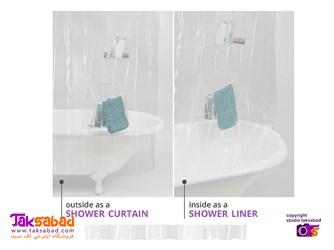 پرده حمام شفاف