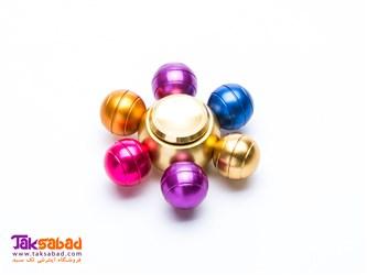 اسپینر فلزی 6 پره توپی رنگی