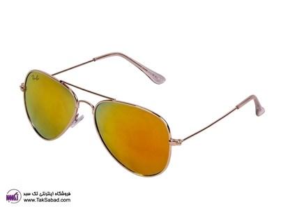 عینک آفتابی شیشه طلایی ریبن