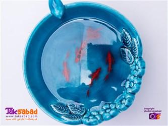 ماهی قرمز در رزین شفاف
