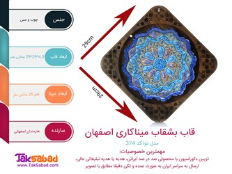 اینفوگرافی قاب بشقاب میناکاری اصفهان مدل نوا
