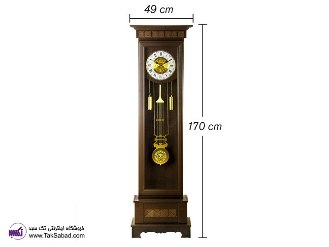 ساعت دیواری ایستاده چوبی P12