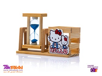 جامدادی رومیزی چوبی hello kitty