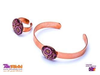 دستبند مسی زنانه