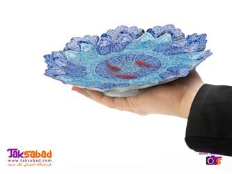 ماهی قرمز سه بعدی نقاشی روی بشقاب