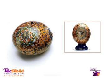 تخم شترمرغ نقاشی شده
