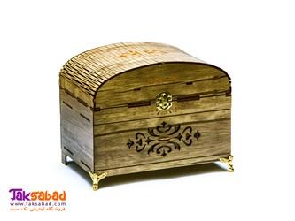 جعبه خیاطی چوبی