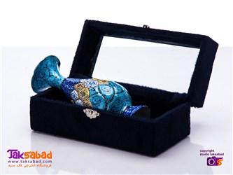 گلدان میناکاری جعبه مخمل