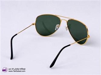 عینک آفتابی ریبن خلبانی طلایی مدل 3025