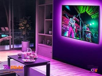 نورپردازی رنگی پشت تلویزیون
