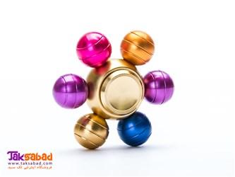فیجت اسپینر 6 پره فلزی توپی رنگی