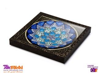 بشقاب میناکاری اصفهان
