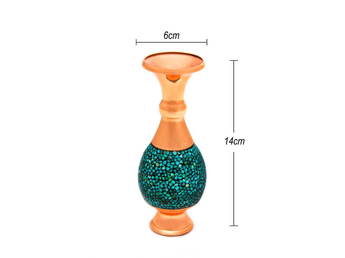 گلدان صراحی فیروزه کوب