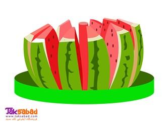 قاچ کن هندوانه