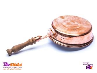 ماهیتابه دسته چوبی