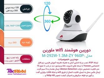 اینفوگرافی دوربین نظارتی هوشمند ملورین 960p - 1.3M