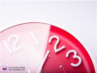 ساعت دیواری قرمز رنگ