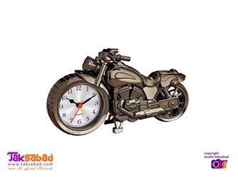 ساعت رومیزی طرح موتور سیکلت