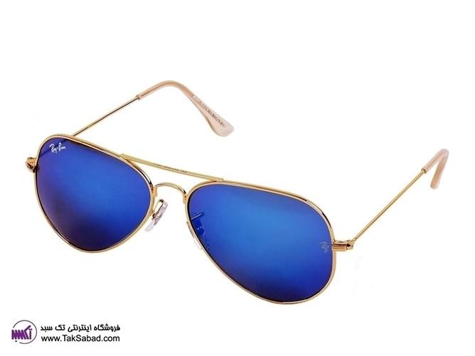 عینک آفتابی ریبن خلبانی شیشه آبی