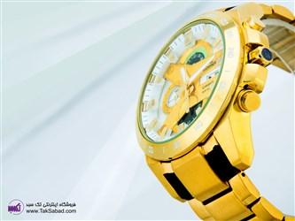 ساعت مچی فلزی طلایی