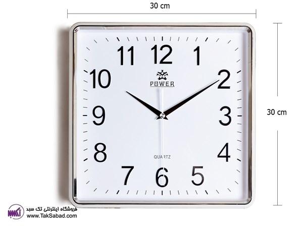 ساعت دیواری ساده پاور