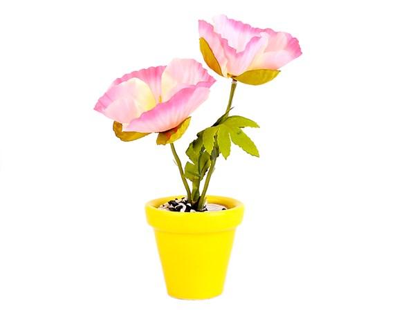 گلدان گل مصنوعی شقایق