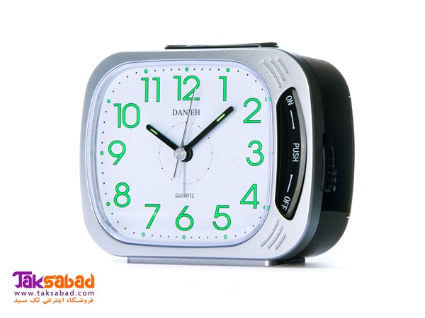 908 DANIEH TABLE CLOCK-SILVER