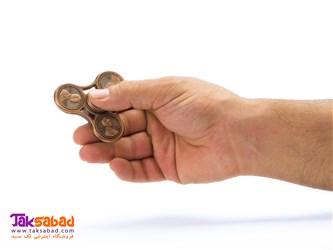فیجت اسپینر فلزی سه پره سکه