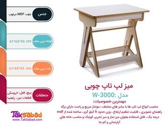 اینفوگرافی میز لپ تاپ چوبی مدل w-3000