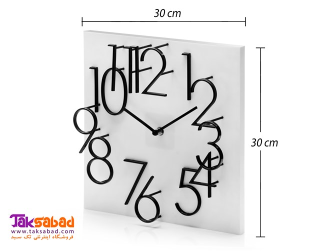 ساعت دیواری مربعی