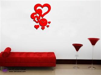 ساعت دیواری شیک مدل سه قلب