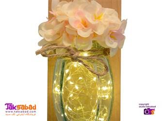 گلدان شیشه ای دیواری