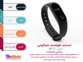 اینفوگرافی دستبند هوشمند شیائومی مدل mi2