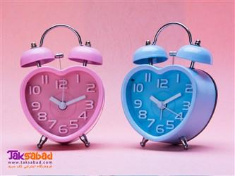 ساعت رومیزی صورتی