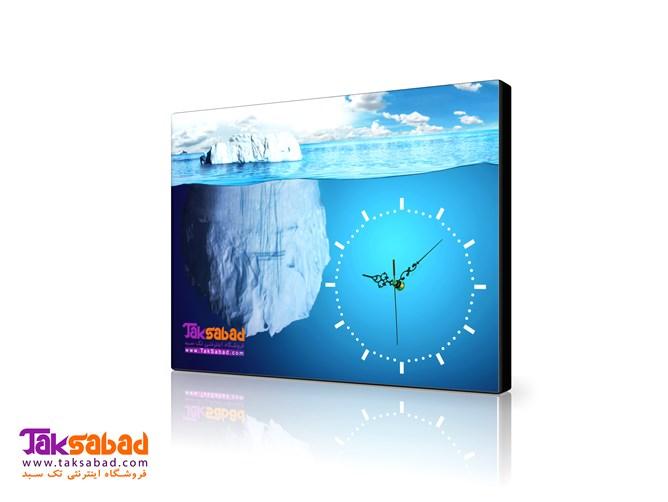 ساعت دیواری تبلیغاتی طرح اقیانوس