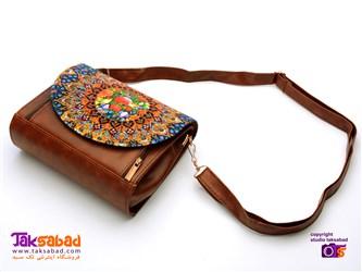 کیف زنانه طرح گل و مرغ