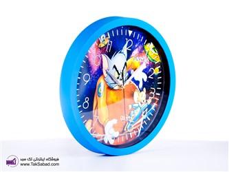 ساعت دیواری رنگ آبی
