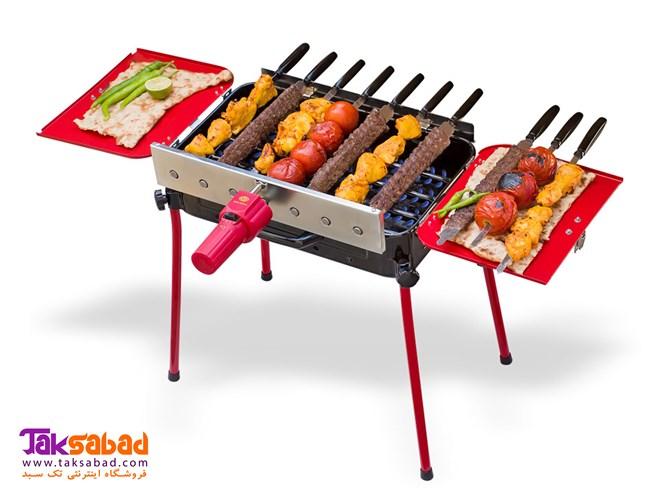 کباب پز دوگانه سوز گازی ذغالی پلین BRB-M84 | Pelin 2 in 1 Barbecue BRB-M84 Mahpooya Grill