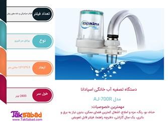 اینفوگرافی دستگاه تصفیه آب خانگی اسپادانا AJ-700R