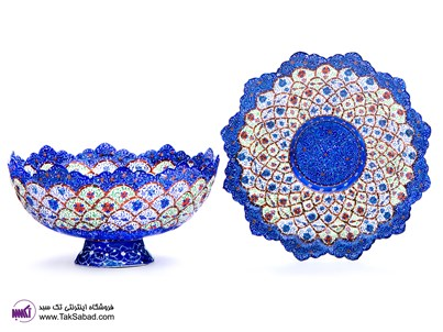 ENAMEL PLATE AND BOWL