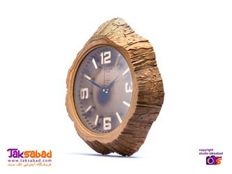 ساعت دیواری طرح چوب